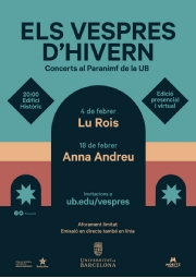 Poster of the sixth edition of Els Vespres d'Hivern.
