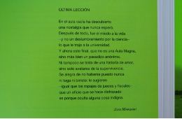 Poema de Joan Margarit al llibre <i>Walking the city. Barcelona as an urban experience</i>.